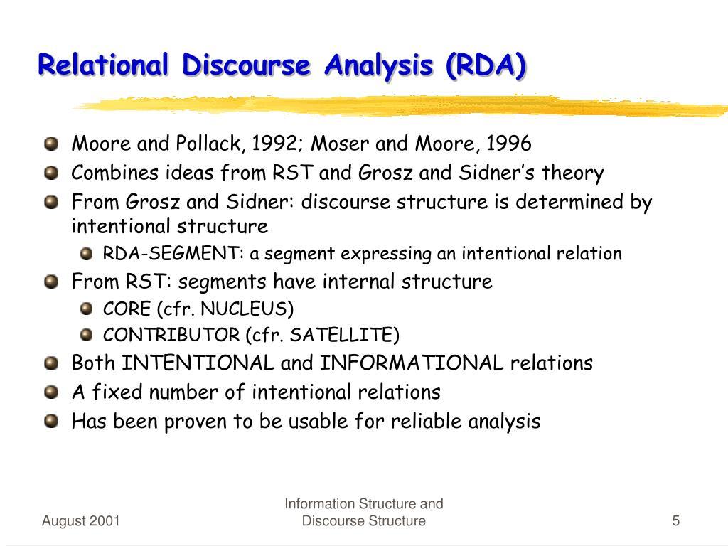 Relational Discourse Analysis (RDA)