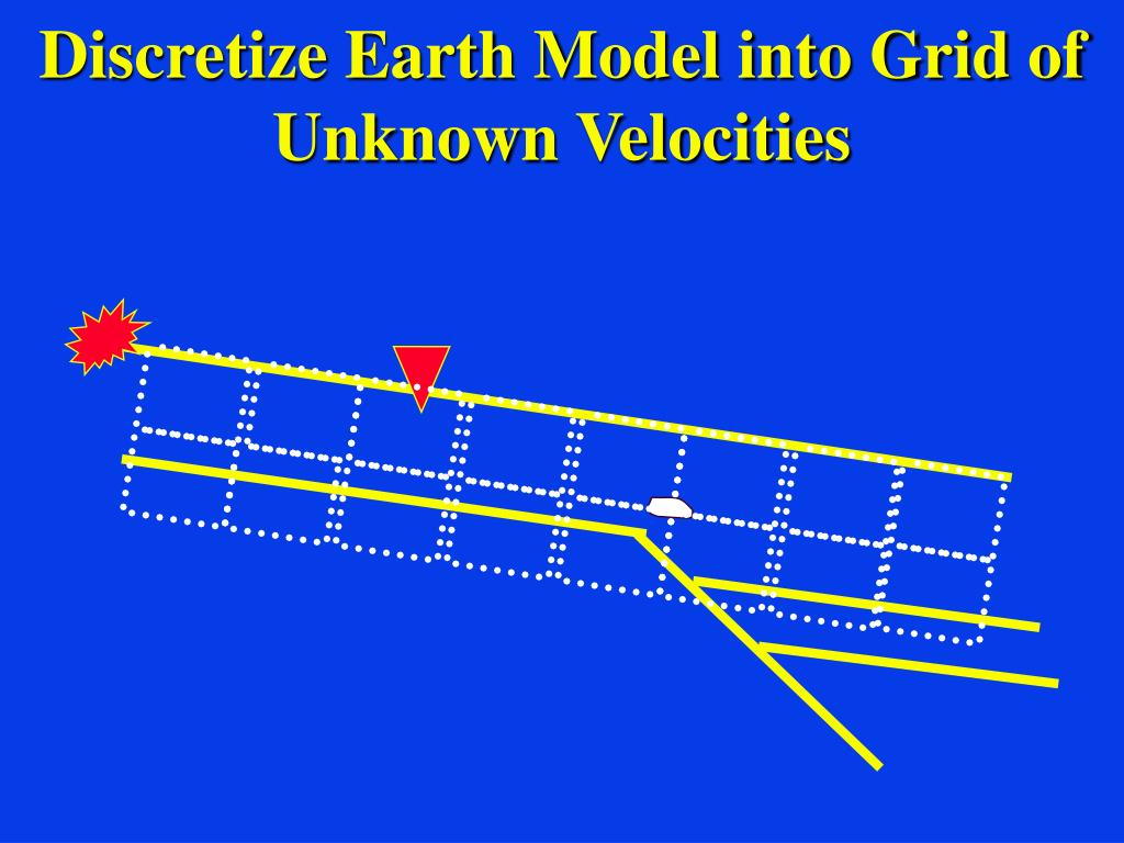 Discretize Earth Model into Grid of Unknown Velocities