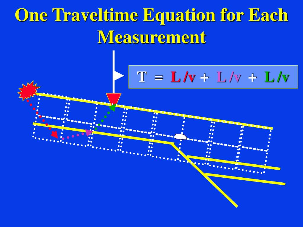 One Traveltime Equation for Each Measurement