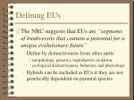 defining eus
