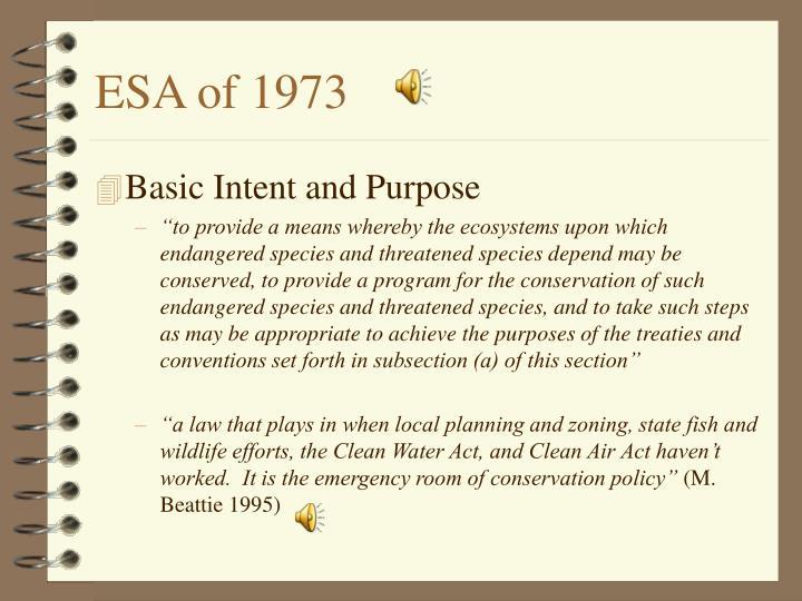 ESA of 1973