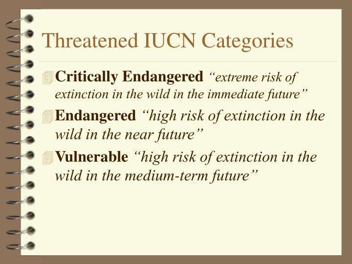 Threatened IUCN Categories