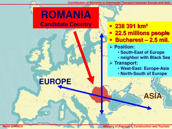 Contribution of Romania to Intermodal Transport between Europe and Asia