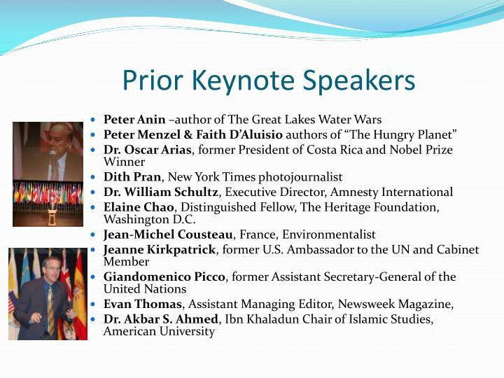 Prior Keynote Speakers