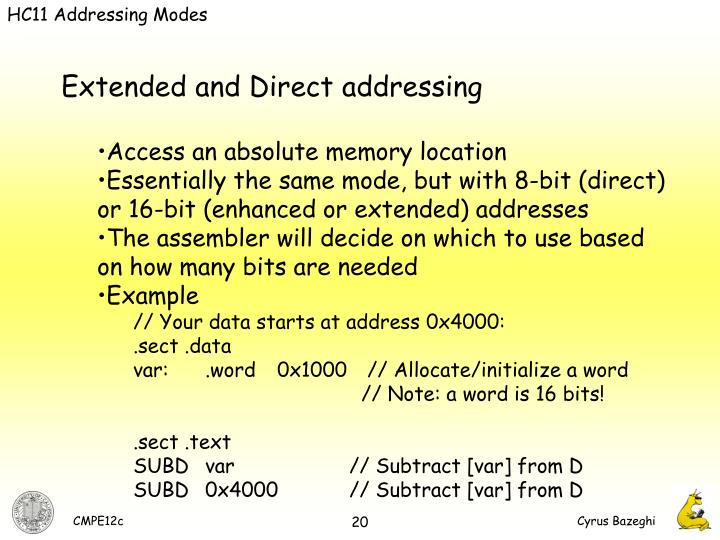 HC11 Addressing Modes