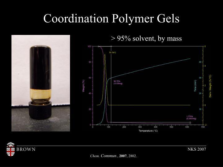 Coordination Polymer Gels
