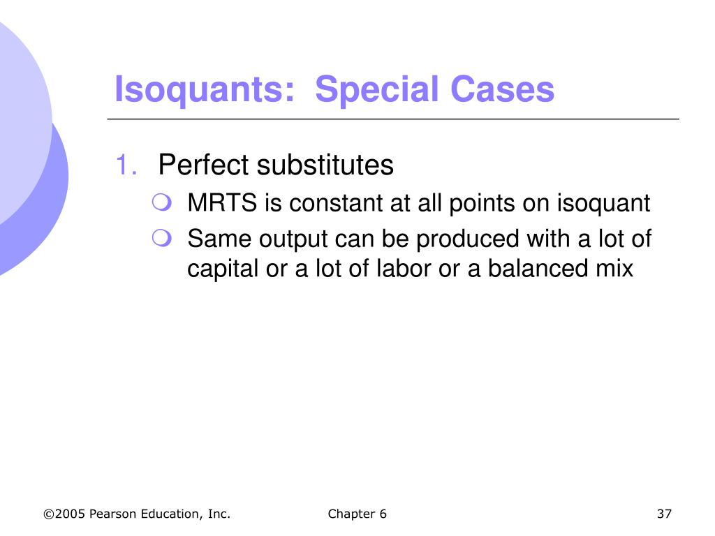 Isoquants:  Special Cases