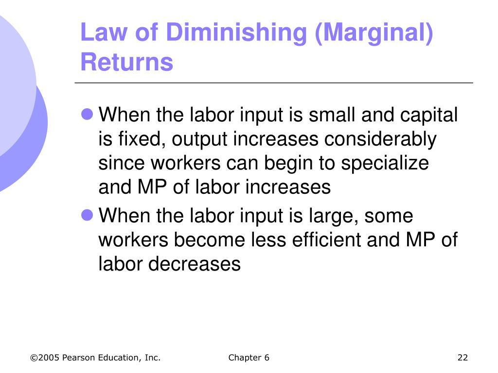 Law of Diminishing (Marginal) Returns