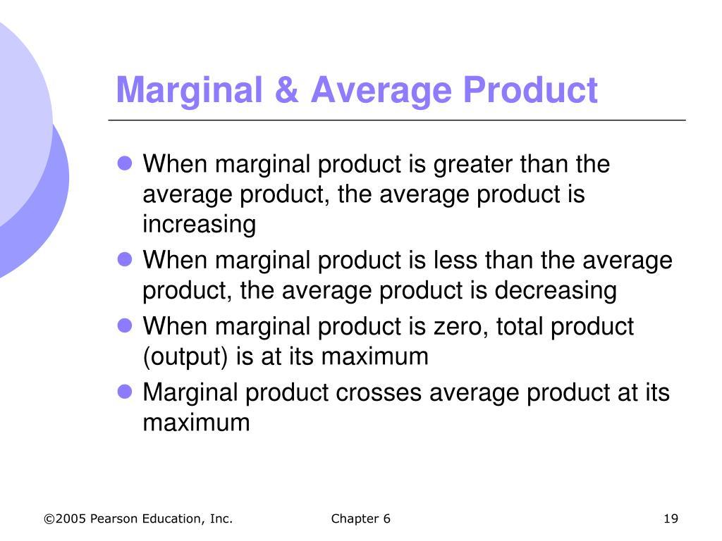 Marginal & Average Product