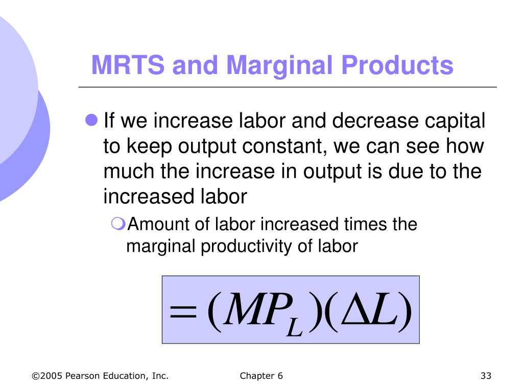 MRTS and Marginal Products