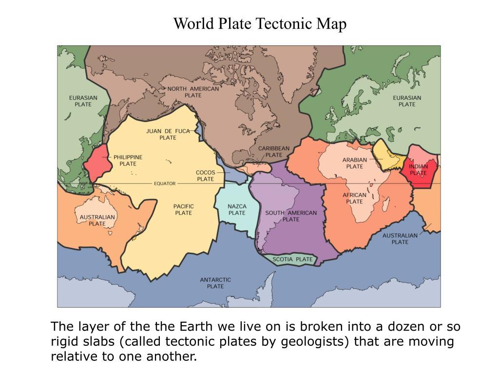 world plate tectonic map