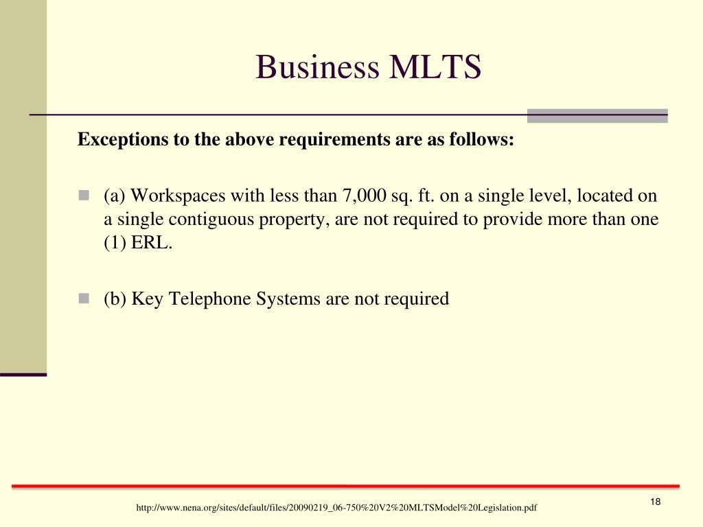 Business MLTS
