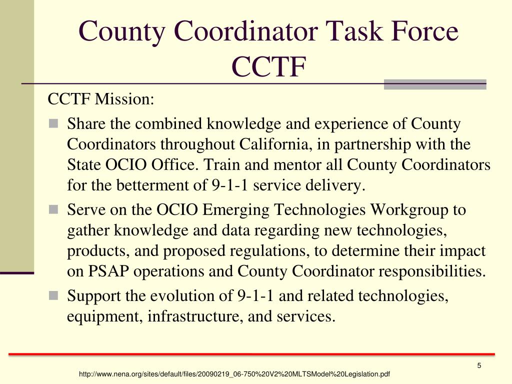 County Coordinator Task Force