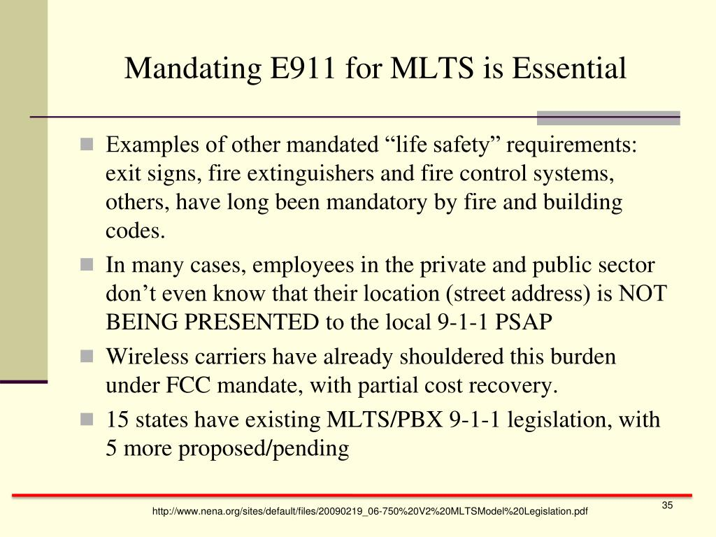 Mandating E911 for MLTS is Essential