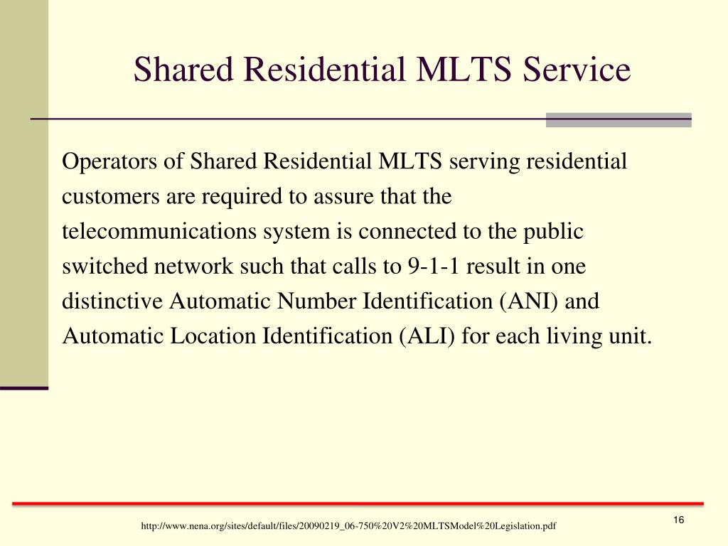 Shared Residential MLTS Service