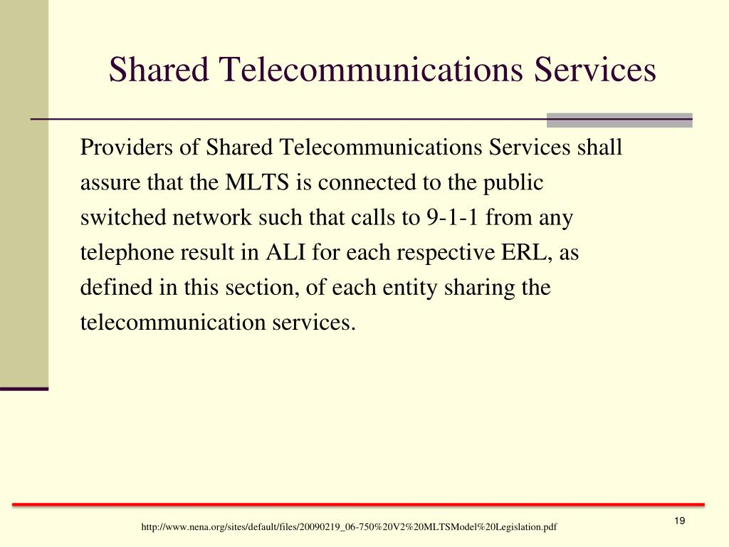 Shared Telecommunications Services