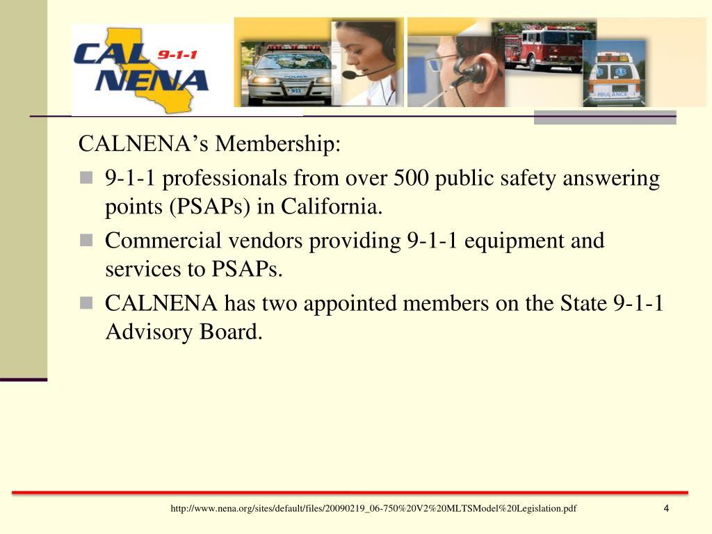 CALNENA's Membership: