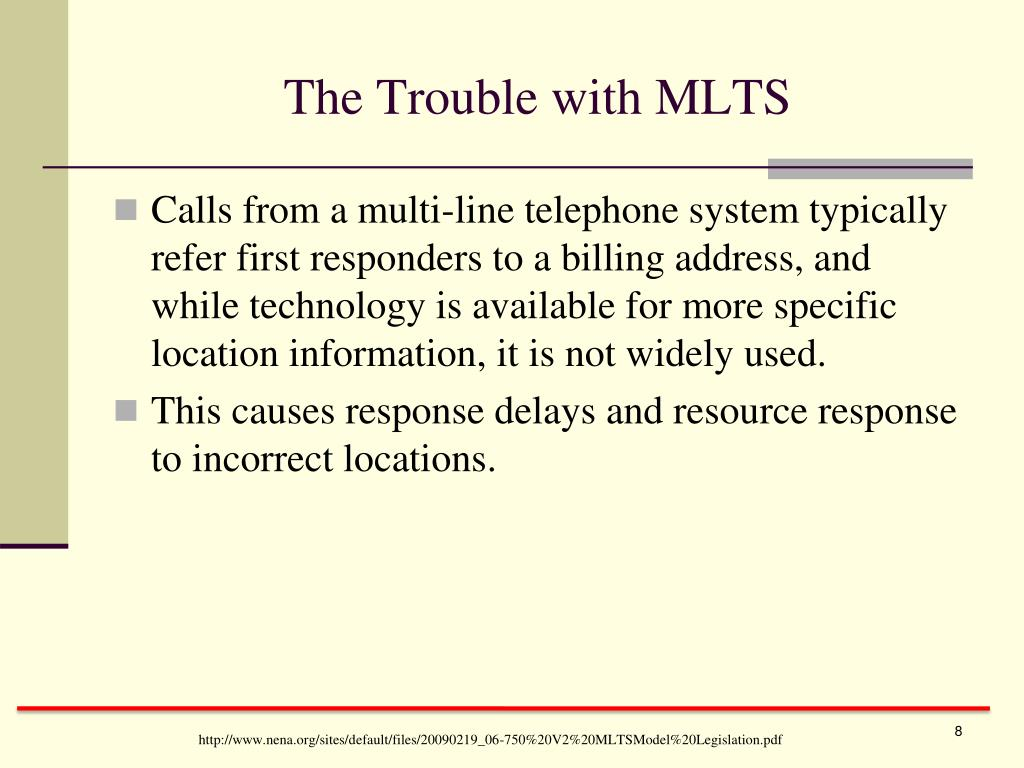 The Trouble with MLTS