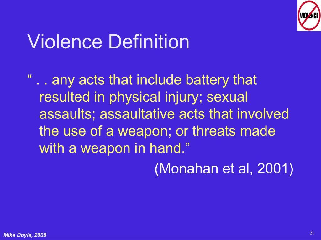 Violence Definition