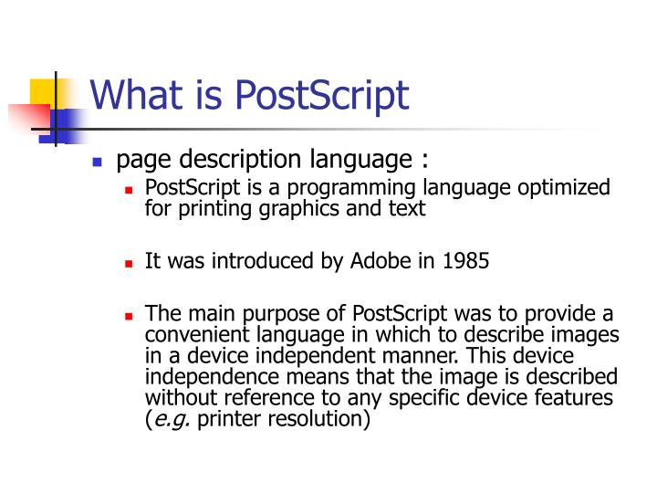 What is postscript