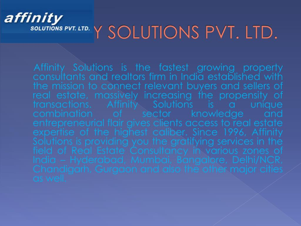 AFFINITY SOLUTIONS PVT. LTD.