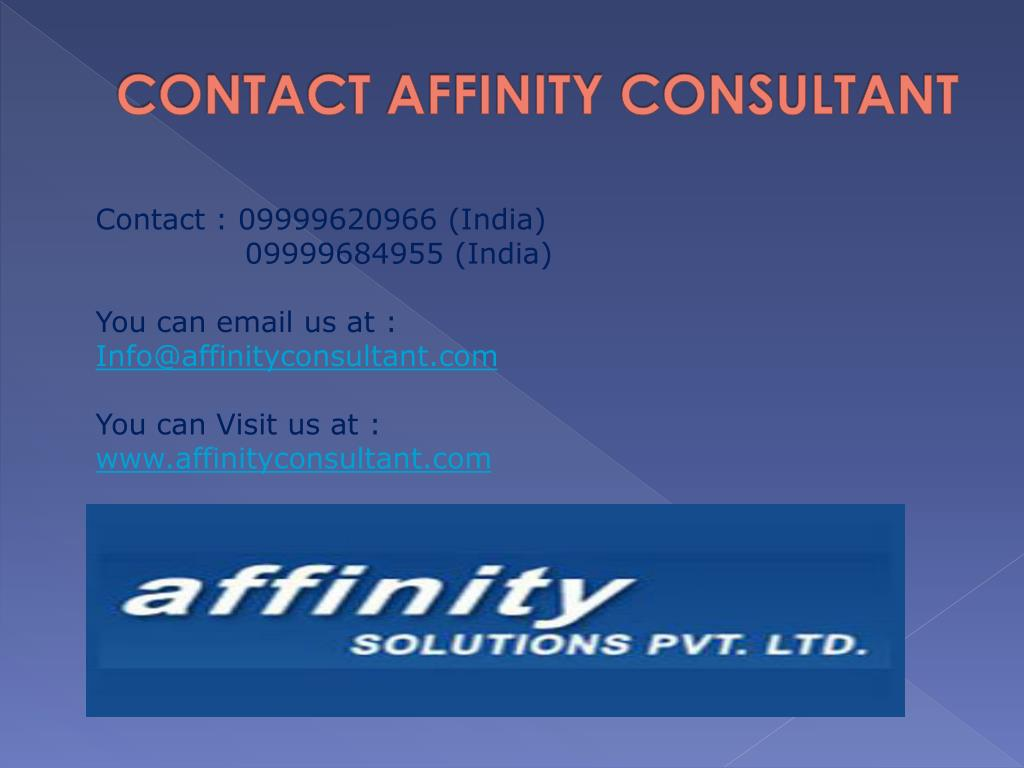 CONTACT AFFINITY CONSULTANT