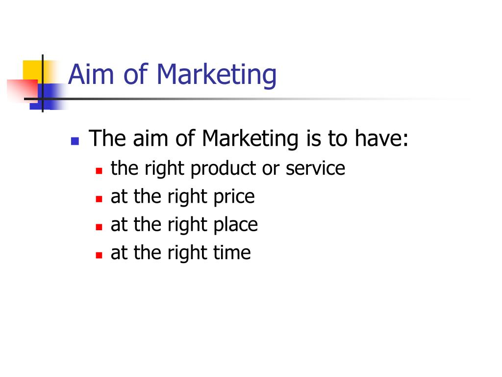 Aim of Marketing