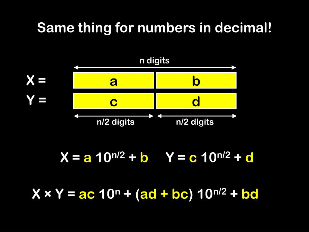Same thing for numbers in decimal!