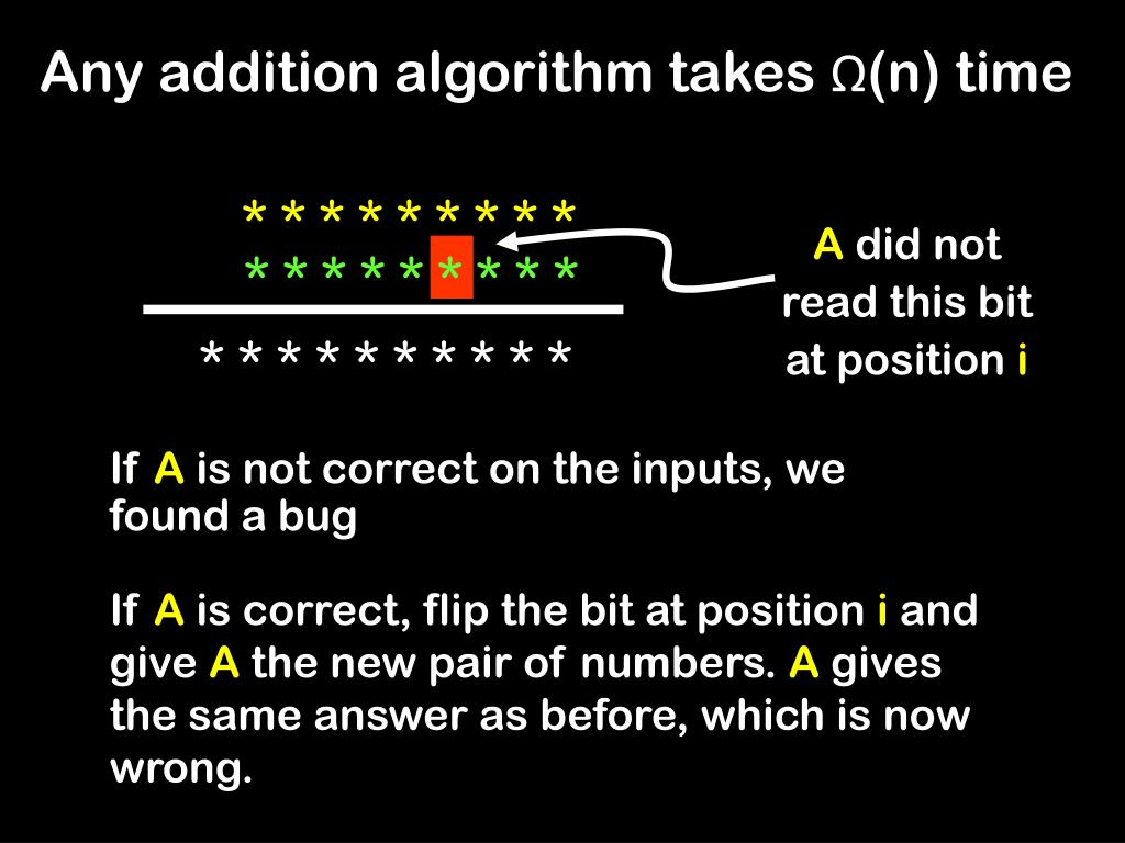 Any addition algorithm takes