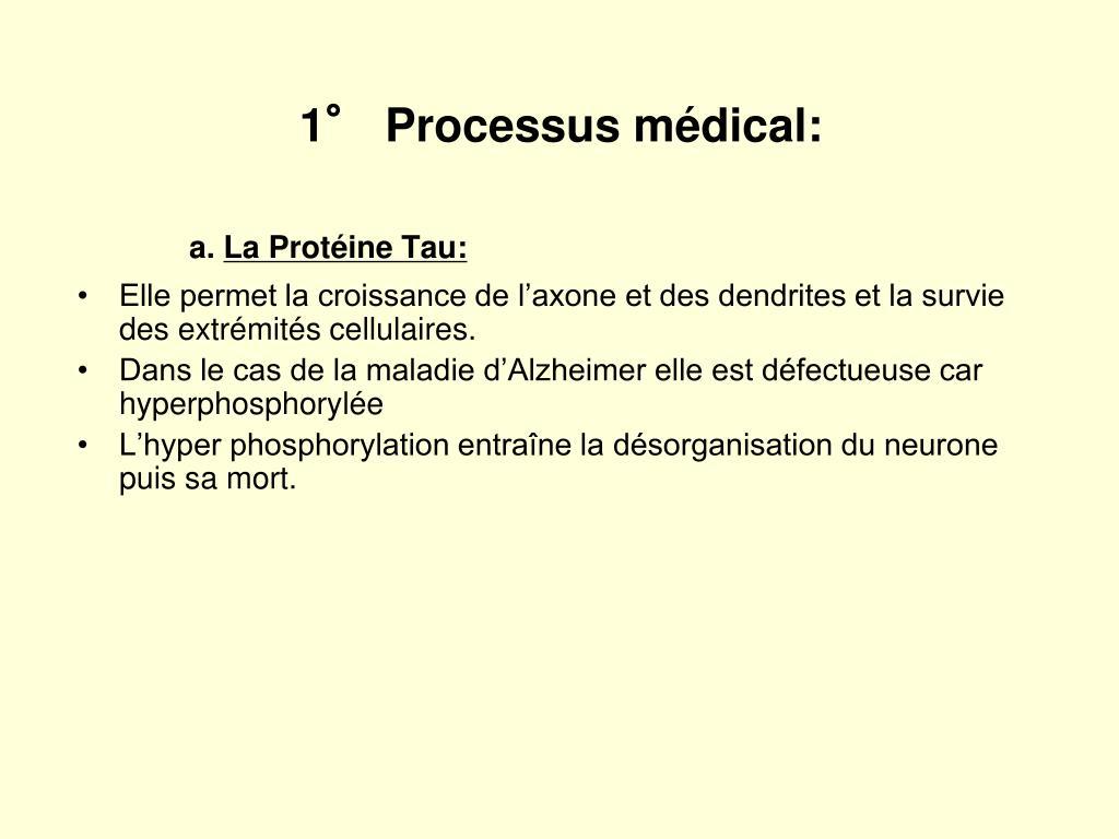 1° Processus médical: