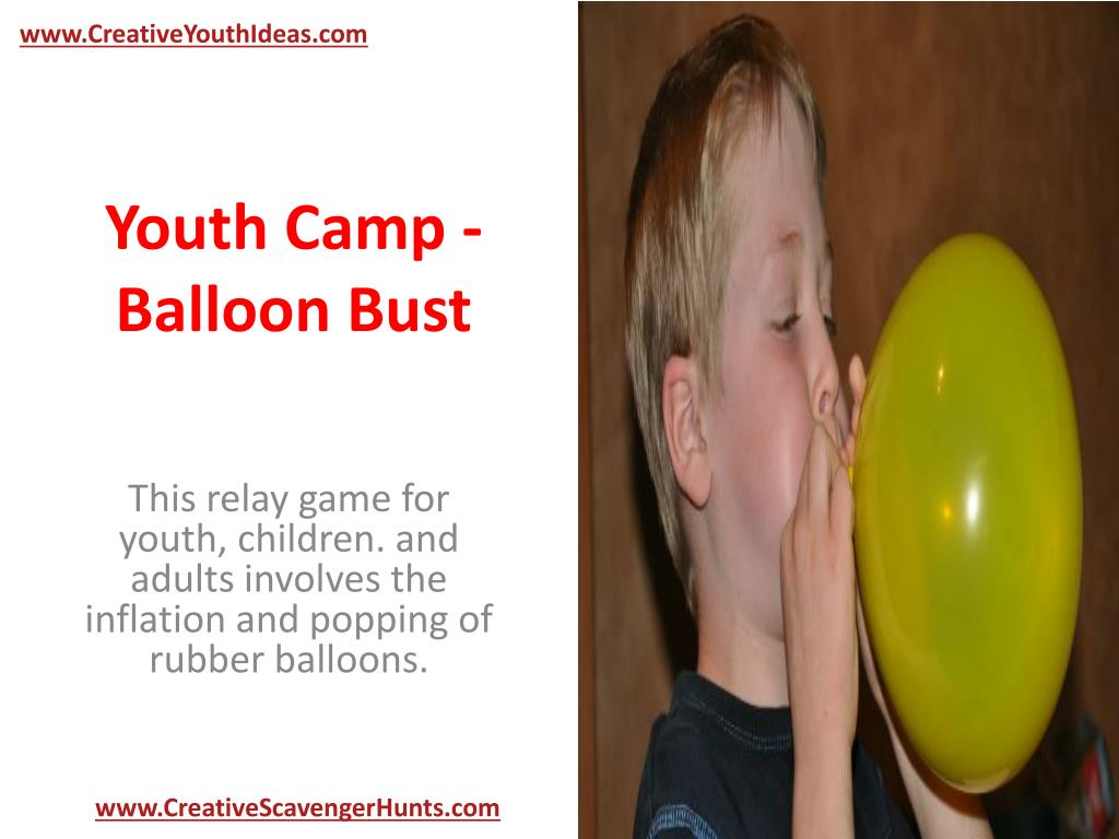 youth camp balloon bust