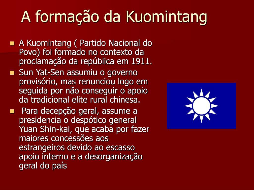 A formação da Kuomintang