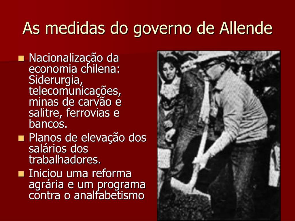 As medidas do governo de Allende