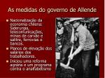 as medidas do governo de allende