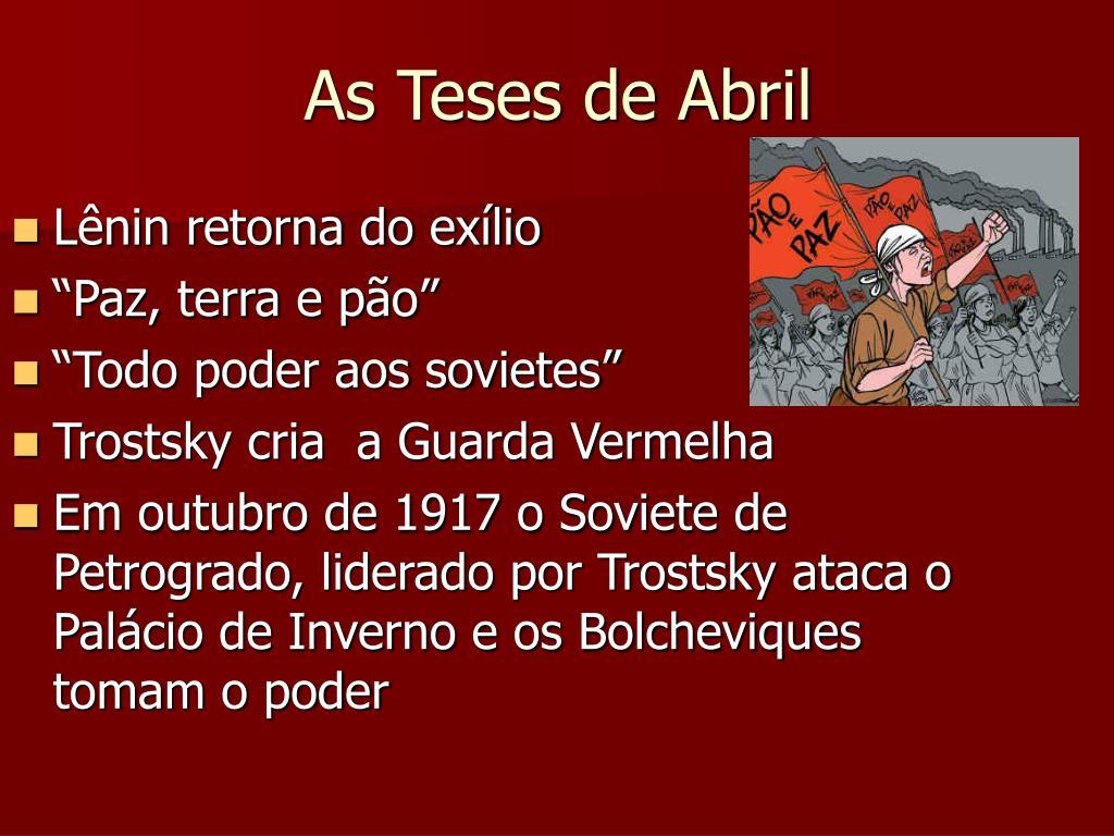 As Teses de Abril