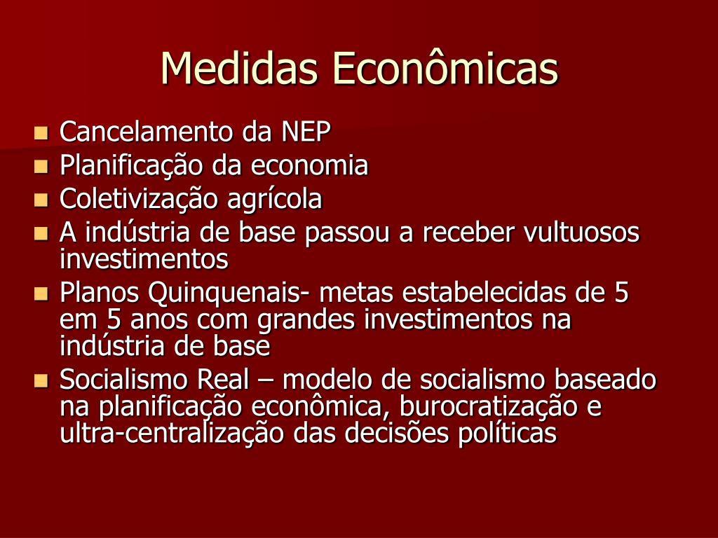 Medidas Econômicas