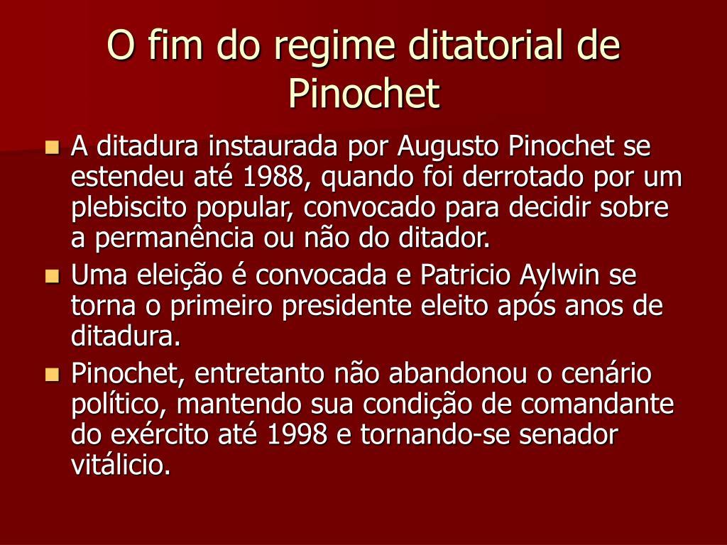 O fim do regime ditatorial de Pinochet