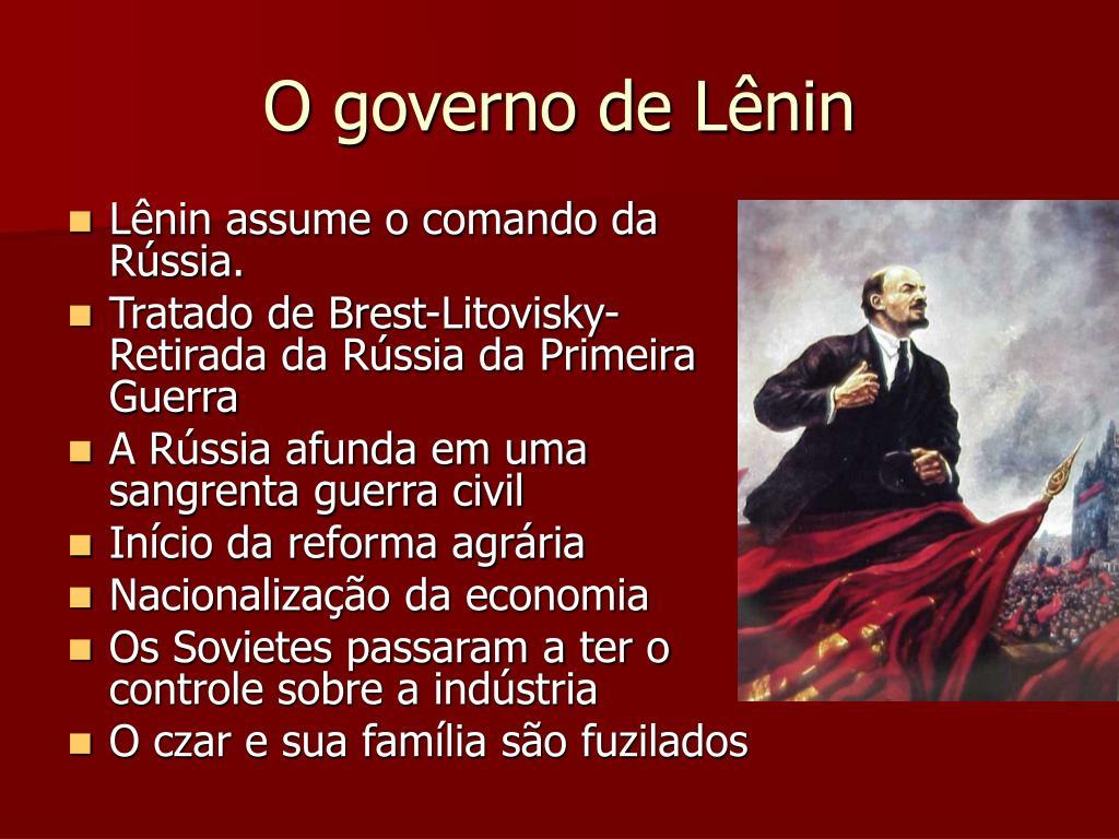O governo de Lênin