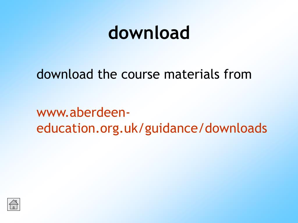 download the course materials from