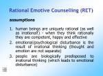 rational emotive counselling ret