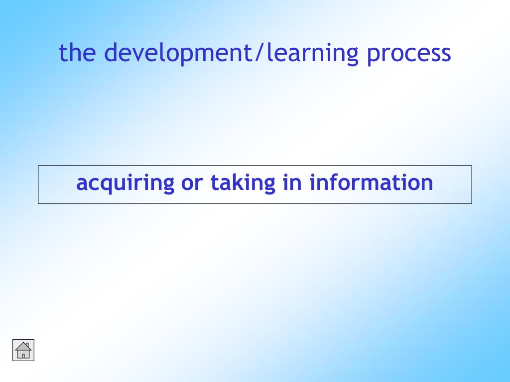 acquiring or taking in information