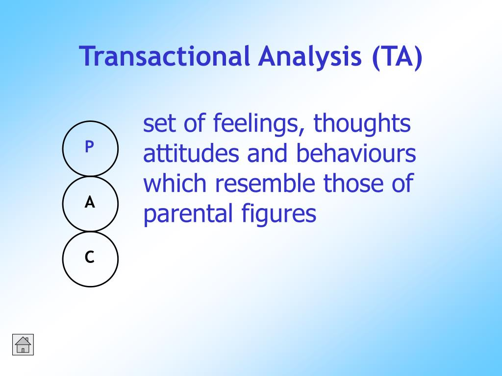 Transactional Analysis (TA)
