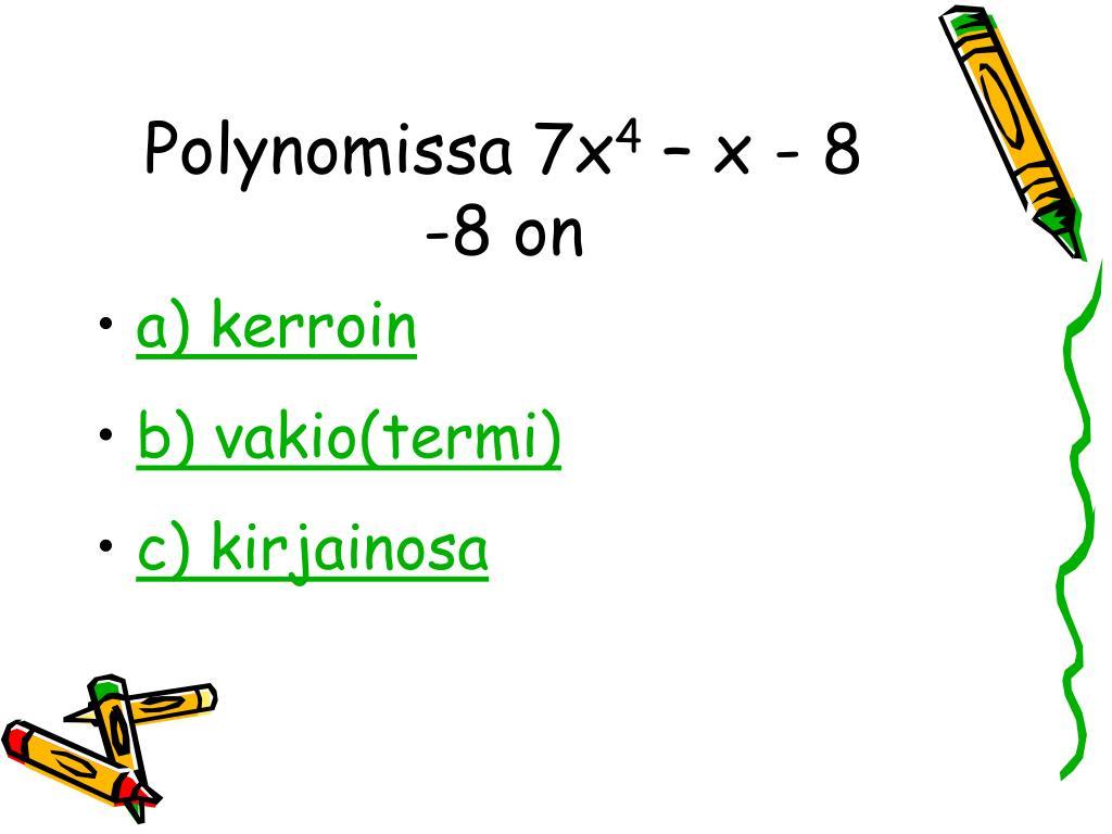Polynomissa 7x