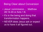 being clear about conversion38