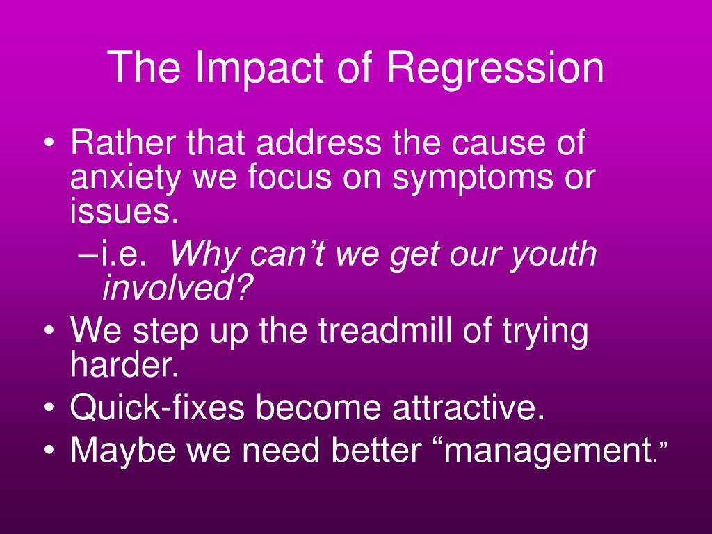 The Impact of Regression