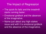 the impact of regression15