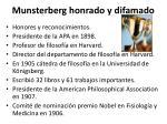 munsterberg honrado y difamado