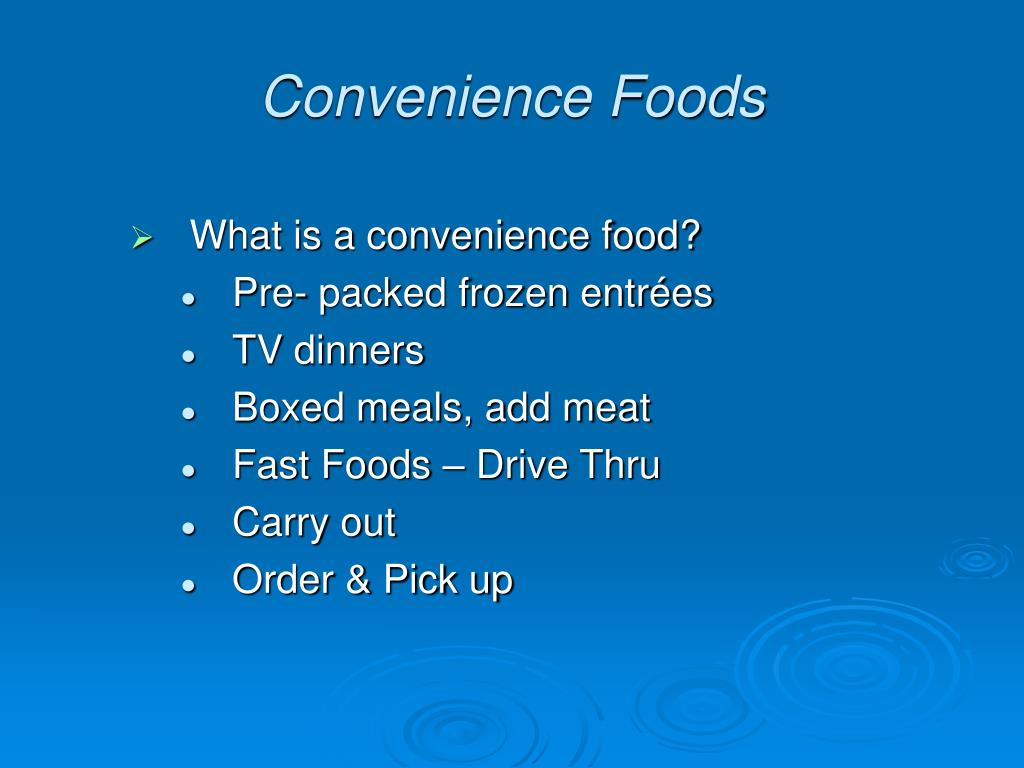 What is a convenience food?