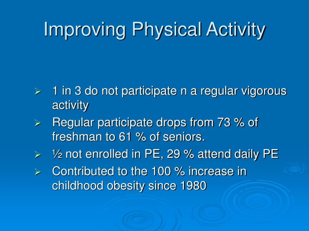 Improving Physical Activity
