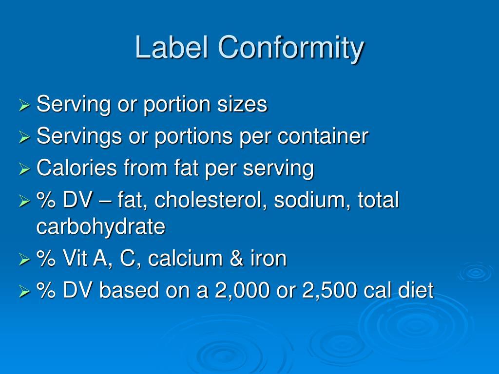 Label Conformity